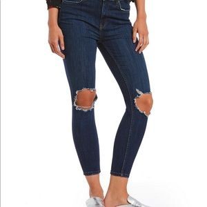 Free People High Rise Busted Skinny Jeans Size 30